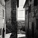 Tuscany - Alley in Cetona (645 Medium Format Delta 100 in Finol)