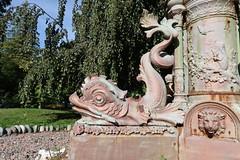 Dolphin minus cherub/boy rider,  Boer War Memorial fountain, Halifax Public Gardens (globewriter) Tags: boer war memorial fountain halifax public gardens nova scotia boerwar halifaxpublicgardens canong7mkii canon g7 mark canong7xmarkii