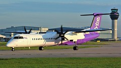 G-JECP (AnDyMHoLdEn) Tags: flybe dash8 bombardier egcc airport manchester manchesterairport 23l