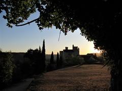 Château de Beynac from panorama path, almost sunset, Beynac-et-Cazenac, France (Paul McClure DC) Tags: beynacetcazenac périgord dordogne france nouvelleaquitaine sept2019 castle château historic architecture scenery