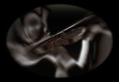 Solo (Wilkins Flasher) Tags: woman violin play player solo blurring movement