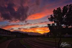 Sunrise over Kihei (Kirt Edblom) Tags: maui mauihawaii kiheihawaii kihei hawaii scenic serene sunlight sunrise gaylene wife milf clouds sun blue bluesky orange red complex morning condo sky skyline landscape panorama panoramamaker6 tropical kirt kirtedblom edblom luminar nikon nikond7100 nikkor18140mmf3556