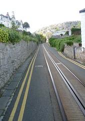 Track of Great Orme Tramway on Old Road, Llandudno (calderwoodroy) Tags: wales tramway llandudno oldroad greatorme northwales greatormetramway cabletramway tramtrack streettramway