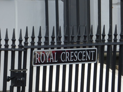 Royal Crescent, Cheltenham - road sign