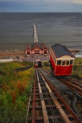 Saltburn cliff lift. (Darren Speak) Tags: sea seas amusements pier coast clifflift saltburn