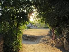 Panorama path, September evening, Beynac-et-Cazenac, France (Paul McClure DC) Tags: périgord dordogne france nouvelleaquitaine sept2019 historic architecture scenery beynacetcazenac people tripticus