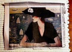 newspaper (bluebird87) Tags: art newspaper woman film jobo lightroom kodak ektar nikon f100