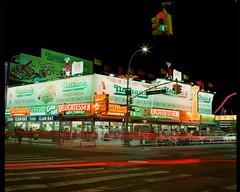 Coney Island Lights (GPhace) Tags: 120mm 2019 brooklyn coneyisland ektar100 filmphotography kodak longexposure mamiya mediumformat nyc nathansfamous nathanshotdogs rb67pros shootfilm summer filmgrain manualfocus tripod