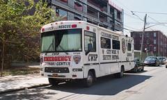 Emergency Command Center (neilsonabeel) Tags: nikonfm2 nikon nikkor film analogue vehicle car brooklyn newyorkcity