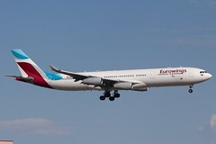 Eurowings (So Cal Metro) Tags: lasvegas vegas nevada airline airliner airplane aircraft plane jet aviation airport eurowings airbus a340 las ooscw