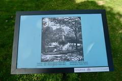 Plaque with vintage photo of  Boer War Memorial fountain, Halifax Public Gardens (globewriter) Tags: boer war memorial fountain halifax public gardens nova scotia boerwar halifaxpublicgardens canong7mkii canon g7 mark