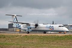 Flybe G-ECOP Bombardier DHC-8-402Q Dash 8 cn/4242 @ Amsterdam airport Taxiway Q EHAM / AMS 13-08-2018 (Nabil Molinari Photography) Tags: flybe gecop bombardier dhc8402q dash 8 cn4242 amsterdam airport taxiway q eham ams 13082018