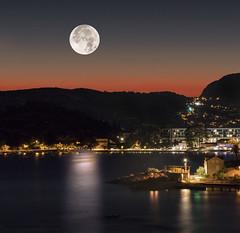 full moon over Mlini (marianna armata) Tags: fullmoonmoonlight nightcity lights reflections water longexposure composite mariannaarmata