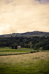 Pink Palace (Ian David Blüm) Tags: scotland trossachs mansion pink highlands hills agriculture farmland sheep wool