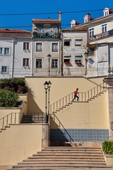 Coimbra (ValterB) Tags: 2019 portugal coimbra sky shadow scenic street summer shapes streetphotography sun house hot holiday heat houses urban urbanphotography urbangeometry stone stairs window wall building buildings blue bright valterb nikon nikkor nikond90 europe