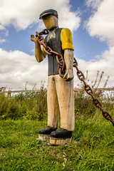 2019 - 09 - 11 - EOS 600D - Saltney Sid - Sculpture - Wales Coast Path - 003 (s wainwright) Tags: 2019 september walescoastpath flintshire newales northwales wales canon600d eos600d