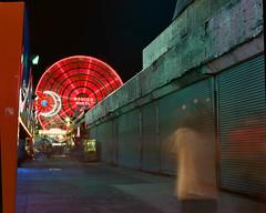 Coney Island Lights (GPhace) Tags: 120mm 2019 brooklyn coneyisland dinoswonderwheel ektar100 filmphotography kodak longexposure mamiya mediumformat nyc rb67pros shootfilm summer filmgrain manualfocus tripod