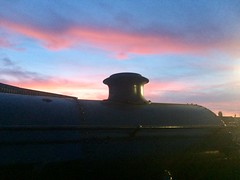 Great Central Railway Loughborough Leicestershire 14th September 2019 (loose_grip_99) Tags: great central railway loughborough leicestershire railroad rail sunset red sky september 2019 gce steam engine locomotive stanier 8f 280 48305 shed depot eastmidlands mpd england uk trains railways
