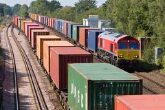 DB Schenker - 66150 (Signal Box - Railway photography) Tags: outdoor railway railroad uk mainline freight train diesel locomotive class66 66150 db schenker wortingjunction hampshire railfreight