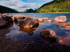 Jordan Pond (azhukau) Tags: usa acadianationalpark travel summer rockobject stones pond lake jordanpond landscape outdoors water calm scenics tranquilscene traveldestinations outdoor mountain rock stoneobject still nature