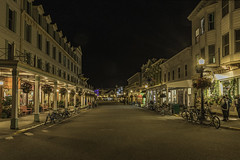Main Street on Mackinac Island. Things are a bit quieter when the day tourists return to the mainland (TAC.Photography) Tags: mackinacisland nightlight streetscene afterdark architecture