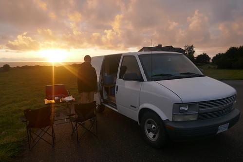 Côte nord de la californie-Repas au coucher du soleil