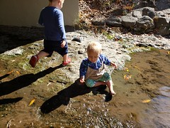 Big jump (quinn.anya) Tags: paul eliza toddler preschooler strawberrycreek jump