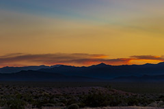 Nevada sunset (Notkalvin) Tags: valleyoffire nevada notkalvin sunset mikekline outdoors night evening mountains range desert golden