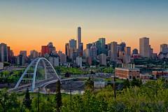 Edmonton 2019 Skyline (John Andersen (JPAndersen images)) Tags: edmonton alberta cityskyline sunset bridges urban