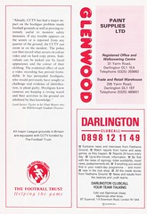 Darlington vs Walsall - 1991 - Page 16 (The Sky Strikers) Tags: darlington walsall the feethams ground barclays league division four official programme 80p
