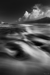 (Masako Metz) Tags: blackandwhite monochrome sky clouds beach oregon coast pacificnorthwest pnw seafoam longexposure coastline shore shoreline outdoor landscape seascape nature