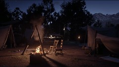 Cozy Camp (bam541) Tags: night fire camp camping evening america cowboy western old west outdoor forest mountain game gaming ps4 playstation rdr red dead redemption 2 rockstar vintage