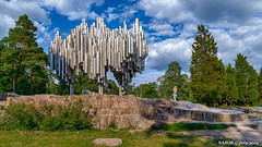 Helsinki, Finland: Sibelius Monument by sculptor Eila Hiltunen resembles the sound wave of organ pipes (nabobswims) Tags: fi finland helsingfors helsinki ilce6000 lightroom mirrorless nabob nabobswims park sel18105g sculpture sibeliusmonument sonya6000 uusimaa hdr photomatix highdynamicrange
