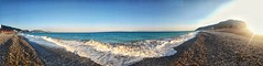 Shall I swim to Turkey (Scouse Smurf) Tags: beach sea turkey rhodes sand panoramic