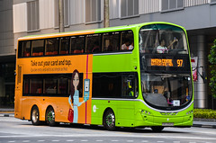 Tower Transit Singapore Volvo B9TL Wright Eclipse Gemini II (nighteye) Tags: towertransitsingapore tts volvo b9tl wright eclipse geminiii eurov sbs3340a service97 landtransportauthority lta takeoutyourcardandtap quickerentryandexitisassimpleasthat singapore bus