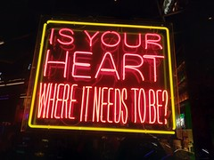 Is your heart where it needs to be? (quinn.anya) Tags: heart neon sign lasvegas