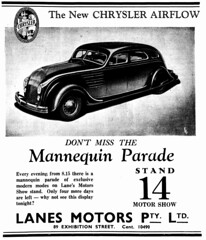 1934 advertisement for the Chrysler Airflow - Mannequin Parade (Matthew Paul Argall - Old Ads) Tags: 1934 1930s advertisement advertising classiccar chryslerairflow vehicle automobile transportation