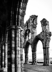 The Arches of Whitby Abbey (The Two Doctors) Tags: englishheritage historic history arches blackandwhite blackwhite monochrome norman saxon heritage abbey whitby whitbyabbey yorkshire