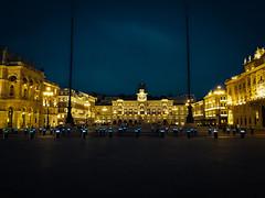 Piazza Unitá d'Italia of Trieste (Theirion) Tags: italy trieste friuliveneziagiulia huawei huaweip10 lightroom blue black gold sky night light landscape cityscape piazzaunitáditalia smartphonephotos