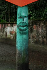 Face on pylon (2) Street Art Parque Lage Unknown artist (Edgard.V) Tags: brasil brésil brasile brazil rio de janeiro rj parque lage jardim botanico postes pylône pylon pilastro bouche boca mouth bocca nez nose nariz naso