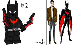Lego Batman Beyond Minifigure Series (Jacob Customs) Tags: lego batman beyond minifigure collectable series terry mcginnis ace bathound battarang