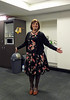Evening Wear (justplainrachel) Tags: justplainrachel rachel cd tv crossdresser dress from transvestite selfie selfportrait vanessatong print retro vintage carigan tights heels