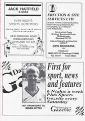 Darlington vs Walsall - 1991 - Page 14 (The Sky Strikers) Tags: darlington walsall the feethams ground barclays league division four official programme 80p