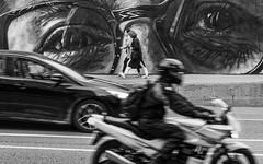 Street mural (deirdre.lyttle) Tags: streetphotography mural calgary bw blackwhite