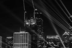 multiplex (Greg M Rohan) Tags: nikon d750 nikkor 2019 city blackandwhite bw building monochrome skyline architecture skyscraper buildings blackwhite skyscrapers sydney vivid australia laser laserbeams sydneycity vividfestival cityscape multiplex construction