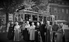 Wij Neemen den Tram (Peter ( phonepics only) Eijkman) Tags: denhaag sgravenhage vintage monument rail rails reflectionsofthepast museummaterieel museumstel museum museumlijn ts nzh nederland netherlands nederlandse zuidholland holland tram transport trams tramtracks trolley strassenbahn streetcars