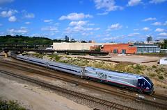 Turning the Runner (Jeff Carlson_82) Tags: amtk amtrak amtrakmidwest kansascity skyline siemens sc44 roundhouse missouri mo missouririverrunner bnjunction 4624 idtx kct train railroad railfan railway wye