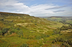 "Love to explore those ""hills"" sometime (petefreeman75) Tags: georgegapcauseway trod path pannierway nikond90 northyorkshire northyorkmoors northyorkmoorsnationalpark moors heather"
