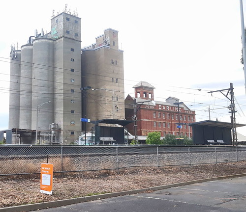 Albion Railway Station and John Darling and Son Flour Mill
