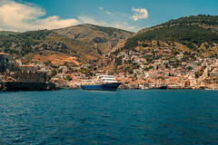Landfall...... (Dafydd Penguin) Tags: island islands hydra saronic gulf greece aegean sea mediterranean water ship passenger vessel boat ferry town yacht yachting sailing sailboat leica m10 50mm summicron f2 asph